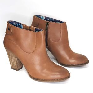 Lucky Brand Ankle Boots 9 Stacked Heel Bootie